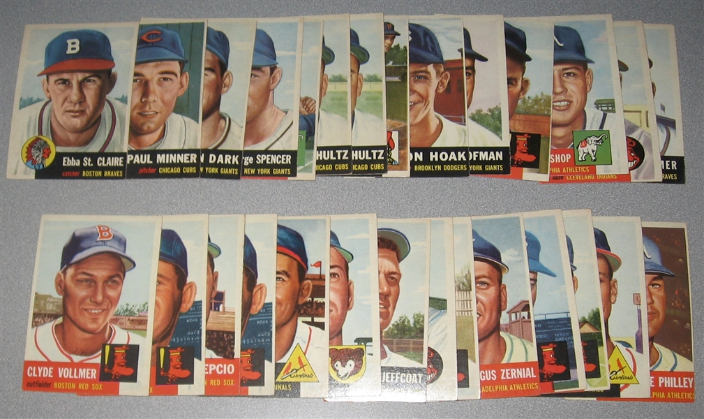 1953 Topps Lot of (33) W/ #154 Groat *Crease  Free*
