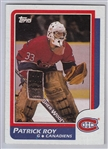 1986 Topps #53 Patrick Roy, *Rookie*