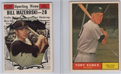 1961 Topps #265 Kubek & #571 Mazeroski, AS, Lot of (2)