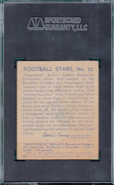 1935 National Chicle #22 Shipwreck Kelly SGC 35