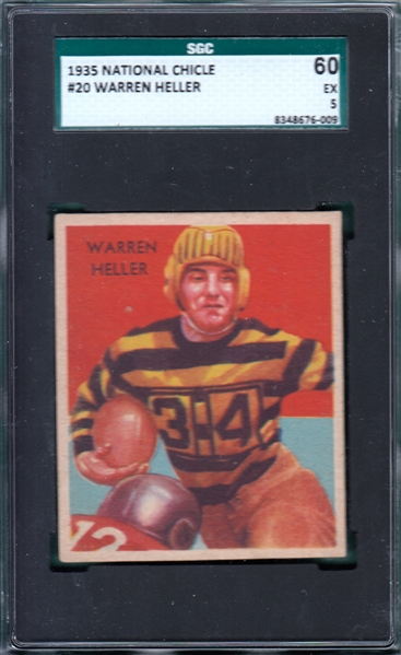 1935 National Chicle #20 Warren Heller SGC 60