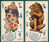 "1939 Ice Cream ""Circus Set-Ups"" Complete Set (6)"