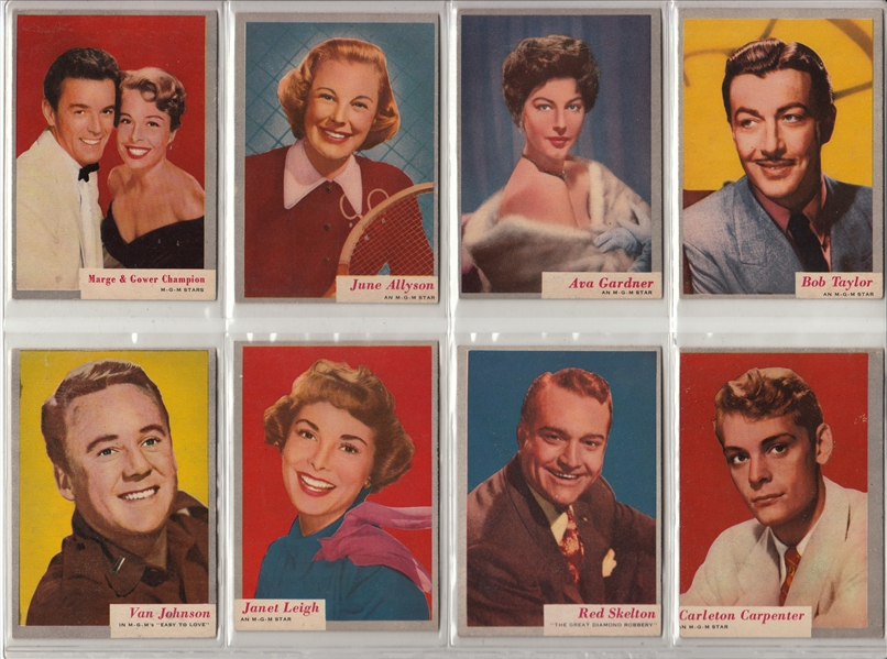 1953 Topps Who-Z-At Star Partial Set (50/80) W/ Gable