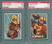 1951 Bowman FB #68 Grgich & #72 Gilmer, Lot of (2) PSA 7