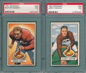 1951 Bowman FB #28 Ramsey & #99 Groom, Lot of (2) PSA 7