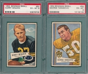 1952 Bowman Small FB #82 Minarik & #94 Tarasovic, Lot of (2) PSA 6