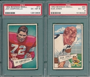 1952 Bowman Small FB #74 Campanella & #86 Jones, Lot of (2) PSA 6