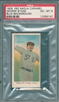 1909 E92 George Stone, Blue Background, Nadja Caramels PSA 6