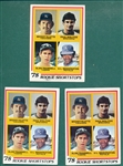 1978 Topps #707 Trammell/Molitor, Rookie, Lot of (3)