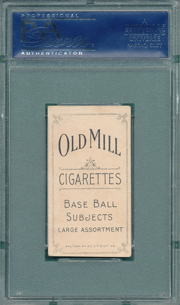 1909-1911 T206 Bender, No Trees, Old Mill Cigarettes PSA 2
