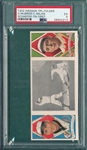 1912 T202 Schaefer On First, McBride/Milan, Hassan Cigarettes PSA 5
