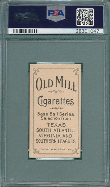 1909-1911 T206 Perdue Old Mill Cigarettes PSA 6 *Southern League*