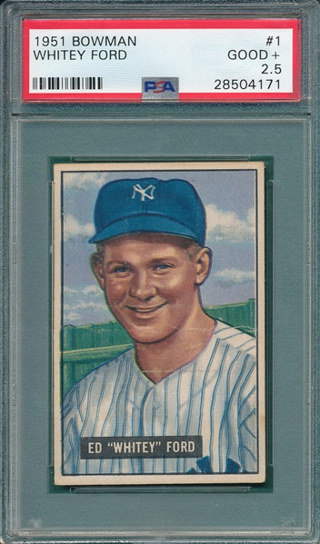 1951 Bowman #1 Whitey Ford PSA 2.5 *Rookie*