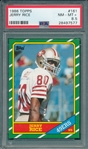 1986 Topps FB #161 Jerry Rice PSA 8.5 *Rookie*