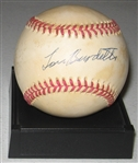 1957 WS MVP Lew Burdette Signed Ball PSA/DNA