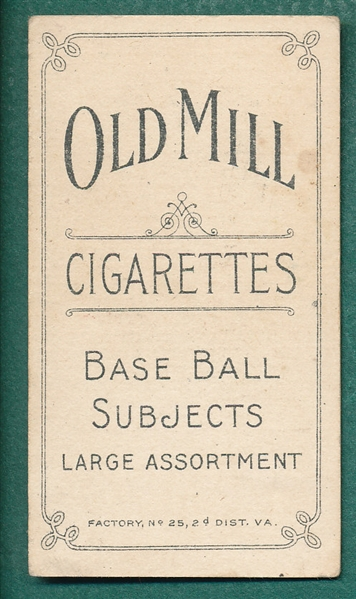 1909-1911 T206 Congalton Old Mill Cigarettes