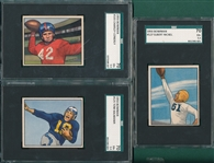 1950 Bowman FB #103 Conerly, #125 & #127, Lot of (3) SGC 70
