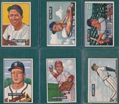 1951 Bowman Lot of (53) W/ High Numbers *Crease Free*
