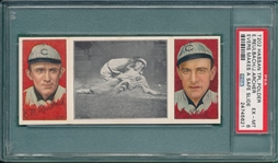 1912 T202 Evers Makes a Safe Slide, Reulbach/Archer, Hassan Cigarettes PSA 6
