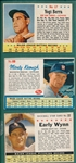 1961-63 Post Cereal Lot of (21) W/ 62 #69 Keough, SP, & 63 #17 Berra