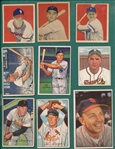 1949-55 Bowman Lot of (12) W/ 49 Simmons, Rookie