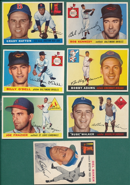 1954/55 Topps Lot of (12) W/ '55 #16 Sievers PSA 5.5