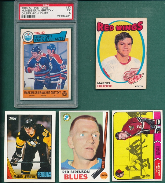 1968-91 Lot of (47) Hockey W/ Marcel Dionne, Rookie