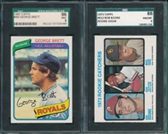 1973 Topps #613 Bob Boone, Rookie, Hi #, SGC 88 & 1980 #450 Brett SGC 96 *MINT*. Lot of (2)