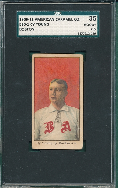 1909-11 E90-1 Cy Young, Boston, American Caramel Co. SGC 35