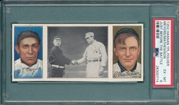 1912 T202 Just Before the Battle, Meyers/Mathewson, Hassan Cigarettes, PSA 6