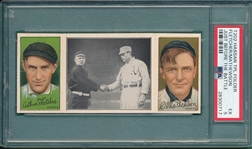 1912 T202 Just Before the Battle, Fletcher/Mathewson, Hassan Cigarettes, PSA 5
