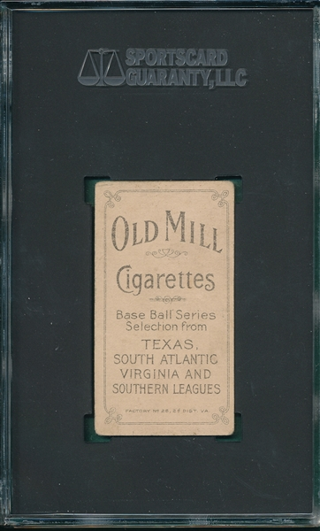 1909-1911 T206 Hart, Jimmy, Old Mill Cigarettes SGC 45 *Southern League*