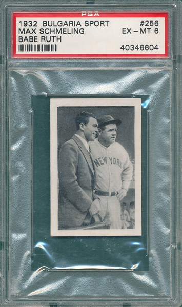 1932 Bulgaria Sport #256 Schmeling/Babe Ruth PSA 6