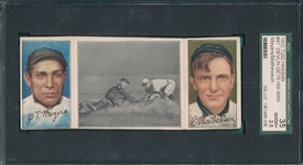 1912 T202 Devlin Gets His Man, Meyers/Mathewson, Hassan Cigarettes, SGC 35