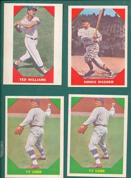 1960 Fleer Baseball Greats Lot of (26) W/ Wagner, Cobb & Ted Williams