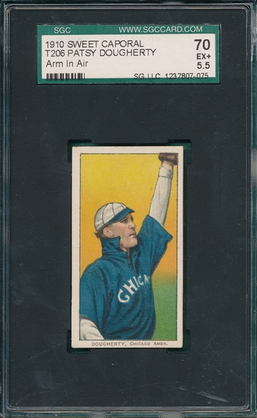 1909-1911 T206 Dougherty, Arm in Air, Sweet Caporal Cigarettes SGC 70
