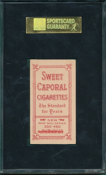 1909-1911 T206 Reulbach, No Glove Showing, Sweet Caporal Cigarettes SGC 70 *Double Factory*