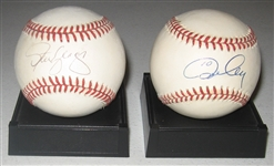 1981 WS MVPs Cey & Yeager Signed Balls, Lot of (2), PSA/DNA