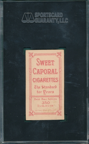 1909-1911 T206 Lake, No Ball, Sweet Caporal Cigarettes SGC 70