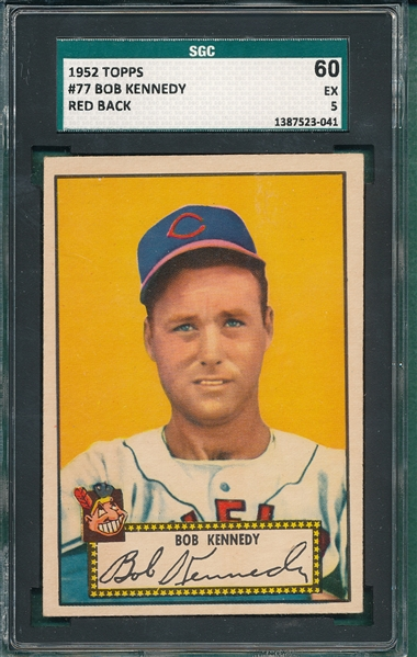 1952 Topps #77 Bob Kennedy SGC 60 *Red Back*