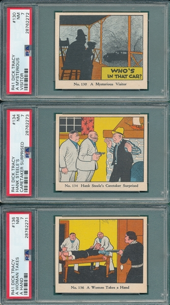 1937 R41 Dick Tracy Lot of (5) PSA 7