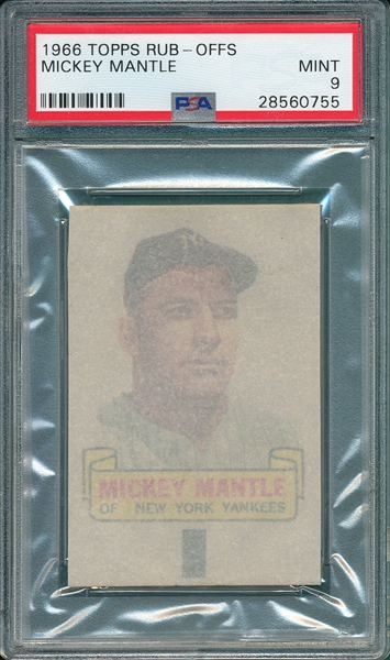 1966 Topps Rub-Off Mickey Mantle PSA 9 *MINT*