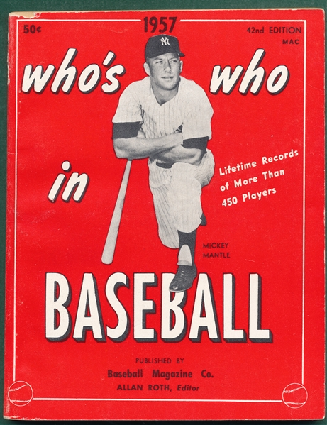 1957 Who's Who in Baseball W/ Mantle