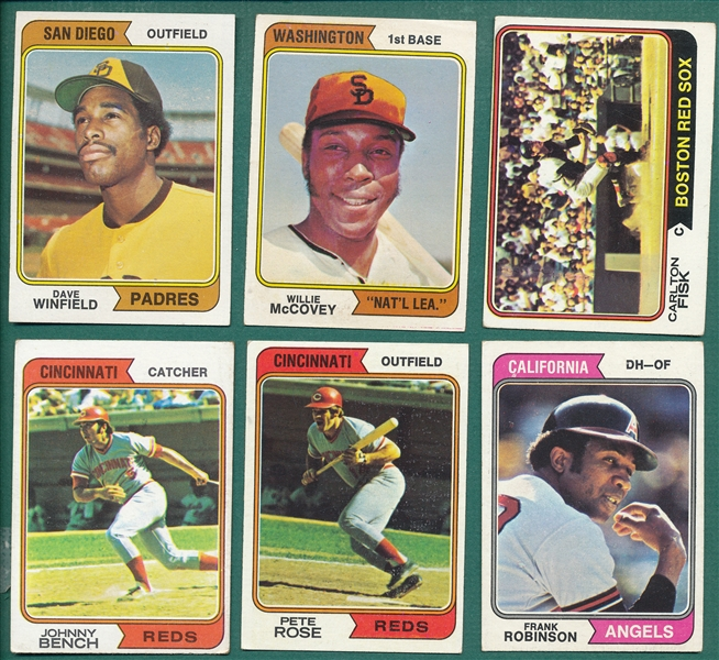 1974 Topps Baseball Lot of (1400) W/ Dave Winfield, Rookie