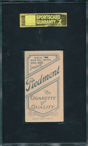 1909-1911 T206 Howell, Hand at Waist, Piedmont Cigarettes SGC 70