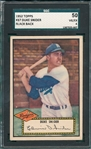 1952 Topps #037 Duke Snider SGC 50 *Black Back*