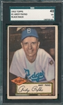 1952 Topps #001 Andy Pafko SGC 40 *Black Back*