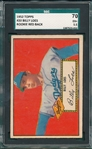 1952 Topps #020 Billy Loes SGC 70 *Red Back* *Rookie*