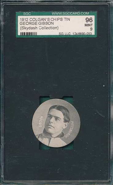 1909-11 Colgan's Chips Tin Top George Gibson SGC 96 *MINT*