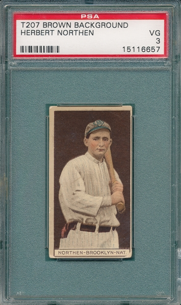 1912 T207 Northern Recruit Little Cigars PSA 3